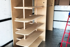 andrei's moving work gallery shelf installation
