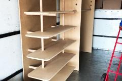 andrei's moving work gallery shelf installation